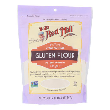 Bob's Red Mill - Flour Gluten - Case of 4-20 OZ