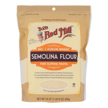 Bob's Red Mill - Flour Semolina - Case of 4-24 OZ