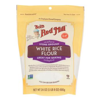 Bob's Red Mill - Flour Wht Rice Stne Ground - Case of 4-24 OZ