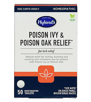 Hylands Homeopathic - Poison Ivy/oak Tablets - 1 Each-50 TAB
