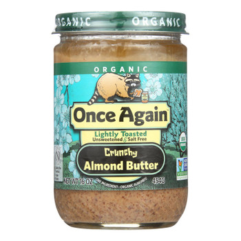Once Again - Almnd Butter Organic Lt Toasted Cr - Case of 6-16 OZ