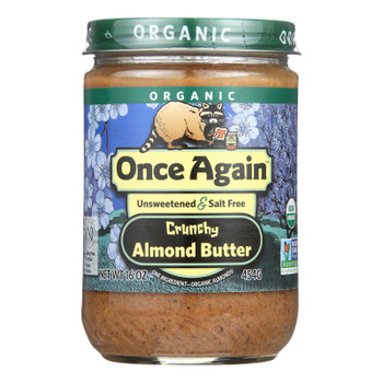 Once Again - Almond Butter Organic Crunchy - Case of 6-16 OZ