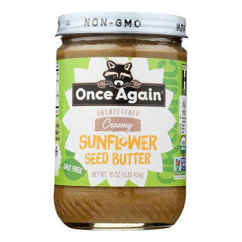 Once Again - Sunflower Butter Ns Sugar Free - Case of 6-16 OZ