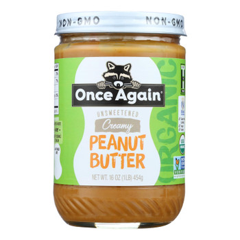 Once Again - Peanut Butter Organic Smooth - Case of 6-16 OZ