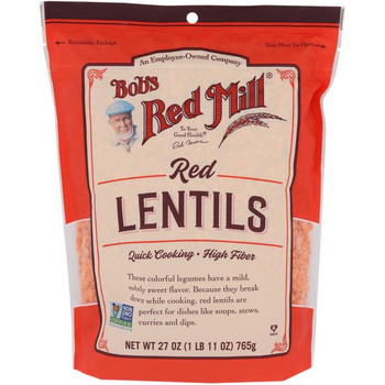 Bob's Red Mill - Beans Red Lentils - Case of 4-27 OZ