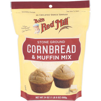 Bob's Red Mill - Mix Cornbread & Muffin - Case of 4-24 OZ