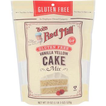 Bob's Red Mill - Cake Mix Vanilla Yellow Gluten Free - Case of 4-19 OZ