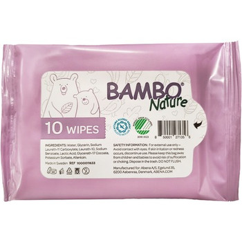 Bambo Nature - Wet Wipes Tidy Bottom - Case of 24-10 CT