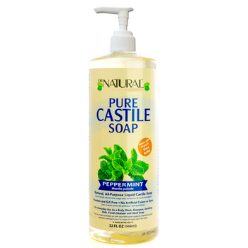 Dr. Natural - Castile Liquid Soap Peppermt - 1 Each 1-32 FZ