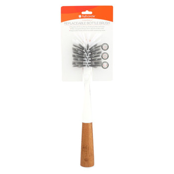 Full Circle Home - Clean Reach Bottle Brush - White - Case of 6 - 1 Count