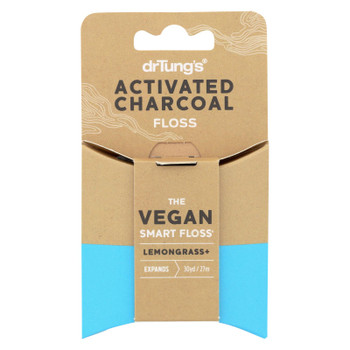 Dr. Tung's - Floss Activated Charcoal - Case of 6 - 30 YRD