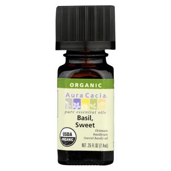 Aura Cacia - Organic Basil Sweet - .25 oz