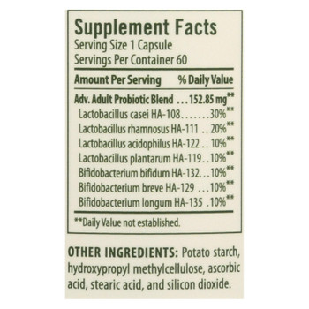 Flora Advanced Adult's Probiotic Dietary Supplement  - 1 Each - 60 CAP