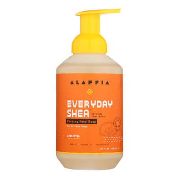 Alaffia Unscented Shea Butter & Neem Foaming Hand Soap - 1 Each - 18 FZ