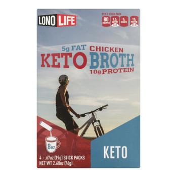 Lonolife - Bone Broth Chicken Keto - Case of 6 - 4/.67 OZ