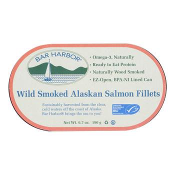 Bar Harbor - Salmon Fillets Wild Smoked Ak - Case of 12-6.7 OZ