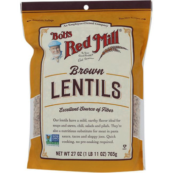 Bob's Red Mill - Beans Brown Lentils - Case of 4-27 OZ