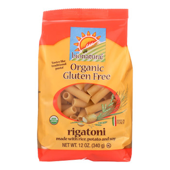Bionaturae - Pasta Og1 Rigatoni G/f - CS of 12-12 OZ