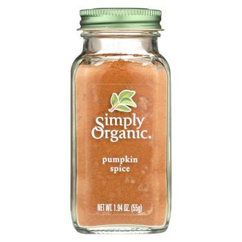Simply Organic Pumpkin Spice - Case of 6 - 1.94 oz.