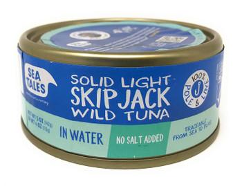 Fish Tales - Tuna Skipjck In Water - Case of 12-5 OZ