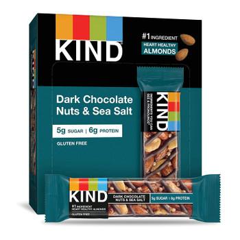 Bar Dark Chocolate Nuts & Sea Salt - Case of 10 - 6/1.4 OZ