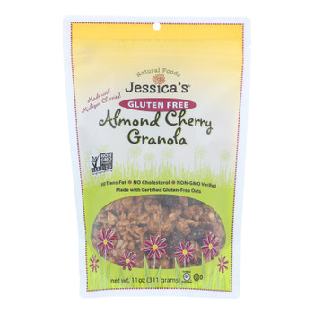 Jessica's Gluten-Free Almond Cherry Granola  - Case of 12 - 11 OZ