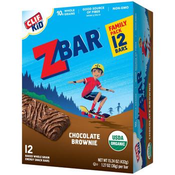 Clif Kid Zbar - Bar Chocolate Brownie - Case of 6-15.24 OZ