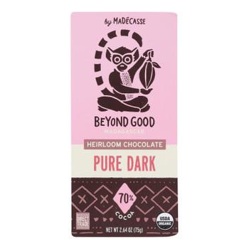 Madecasse - Chocolate Bar 70% Pure Dark Chocolate - Case of 12-2.64 OZ