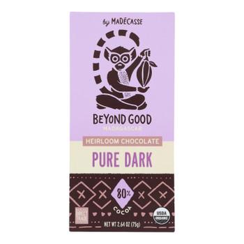 Madecasse - Chocolate Bar 80% Pure Dark Chocolate - Case of 12-2.64 OZ