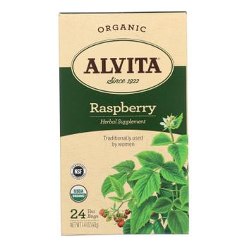 Alvita Teas Raspberry Tea - Organic - 24 Tea Bags