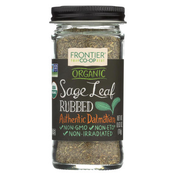Frontier Herb Sage Leaf - Organic - Rubbed - .63 oz