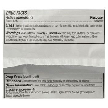 Everyone Hand Sanitizer Wipes Natural - Coconut and Lemon - 30 Count