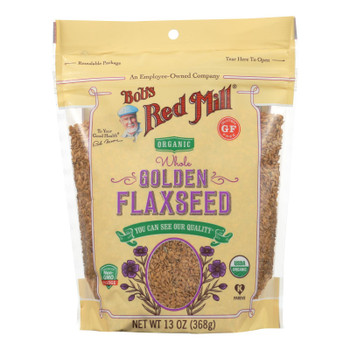 Bob's Red Mill - Flaxseeds Golden - Case of 4-13 OZ