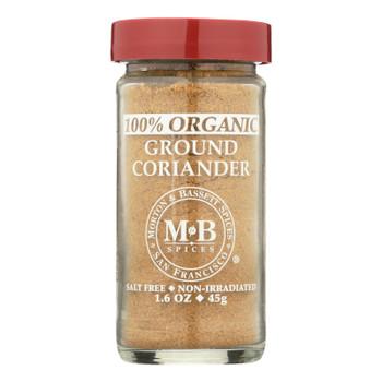 Morton & Bassett - Seasoning Organic Coriandr Gr - Case of 3-1.6 OZ