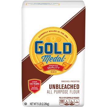 Gold Medal - Flour All Purp Unbl En - Case of 8-5 LB