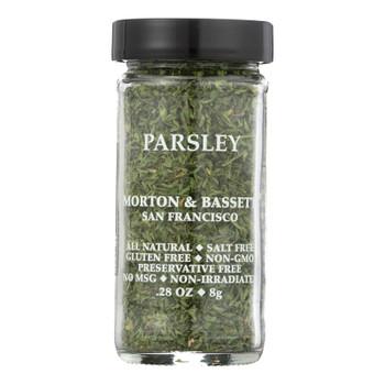 Morton and Bassett Seasoning - Parsley - .28 oz - Case of 3