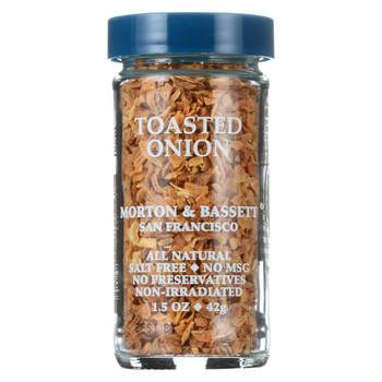 Morton and Bassett Seasoning - Toasted Onion - Case of 3 - 1.5 oz
