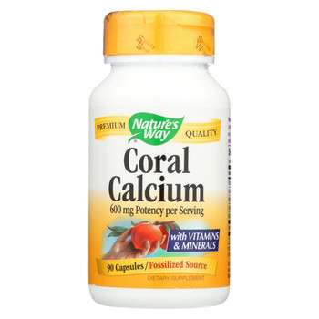 Nature's Way - Coral Calcium with 73 Trace Minerals - 90 Vegetarian Capsules