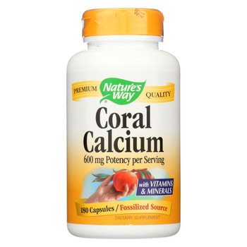 Nature's Way - Coral Calcium with 73 Trace Minerals - 180 Vcaps