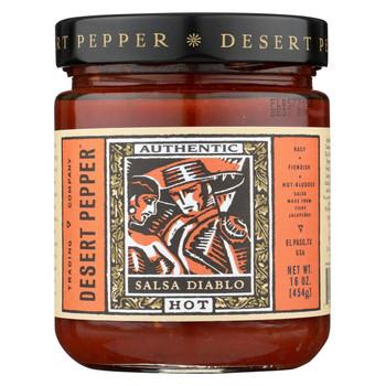 Desert Pepper Trading - Hot Diablo Salsa - Case of 6 - 16 oz.