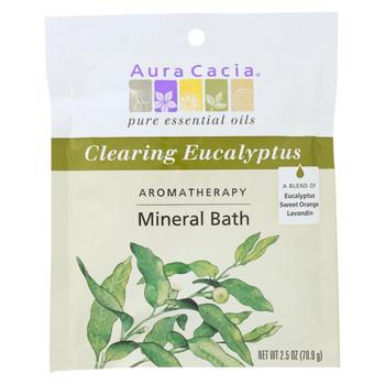Aura Cacia - Aromatherapy Mineral Bath Eucalyptus Harvest - 2.5 oz - Case of 6