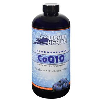 Liquid Health Hydrosoluble CoQ10 Blueberry Hawthorne and Goji - 16 fl oz