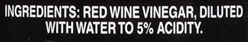 Heinz Gourmet Red Wine Vinegar - Red Wine - 12 Fl oz.