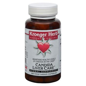 Kroeger Herb Candida Liver Care - 100 Vegetarian Capsules