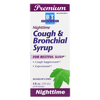 Boericke and Tafel - Cough and Bronchial Syrup Nighttime - 4 fl oz