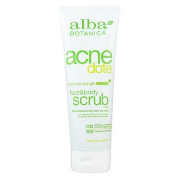 Alba Botanica - Natural Acnedote Face and Body Scrub - 8 fl oz