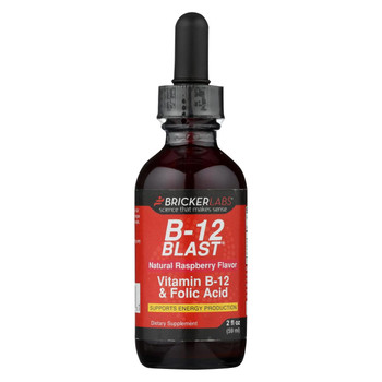 Bricker Labs - Blast B12 Vitamin B12 and Folic Acid - 2 fl oz