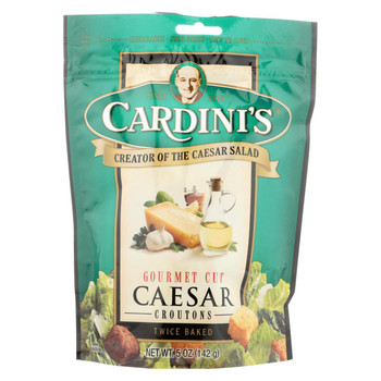 Cardini's Caesar Croutons - Case of 12 - 5 oz