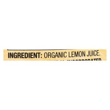 Santa Cruz Organic Juice - Lemon - Case of 12 - 16 Fl oz.