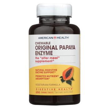 American Health - Original Papaya Enzyme Chewable - 250 Tablets